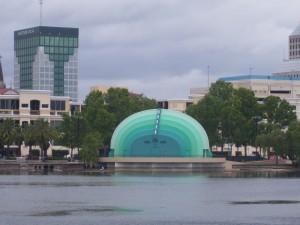 The ampitheater at Lake Eola Park, downtown Orlando.