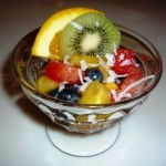 Sweet or savory breakfast fruit cup