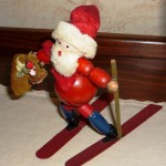 Holiday Time Central Florida Antique Skiing Santa at Thurston House boutique B&B