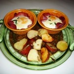 egg cups and potatoes