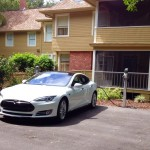 Tesla Charging Stations at North Orlando Inn - in use on the first day!