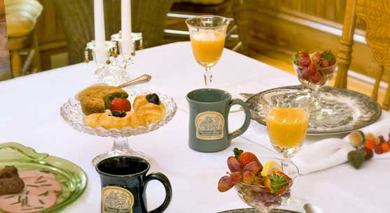 Our Orlando Breakfast includes pastry, fruit and coffee