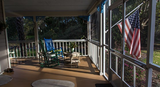The Front Porch at Our Luxury Florida Accommodations