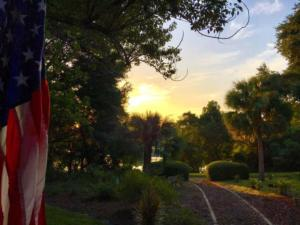 Sunset view from porch