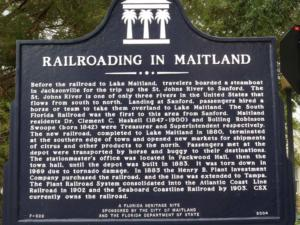 Railroading in Maitland sign